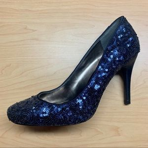 Nina | Blue Sequin Heels